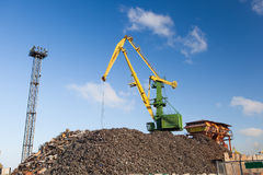 Scrap metal loading Stock Image