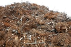 Scrap Metal and Metal Trash for Recycling in Germany Royalty Free Stock Images