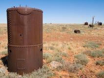 Scrap metal by the Oodnadatta Track, Australia Royalty Free Stock Photos