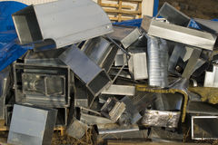 Scrap metal parts Royalty Free Stock Image
