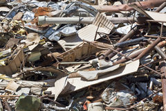 Scrap Metal Pile Stock Photo