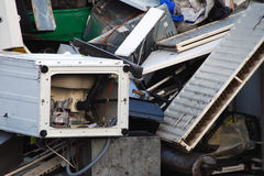 Scrap metal pile Stock Images