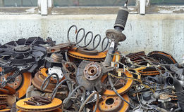 Scrap metal. Pile of old car parts scrap metal for recycling Stock Photography