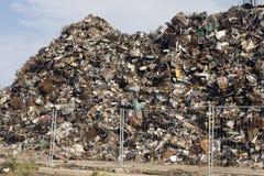 Scrap Metal Pile Stock Photo