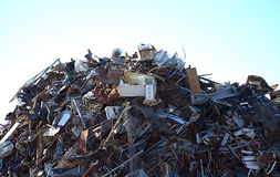Scrap metal pile Stock Photos