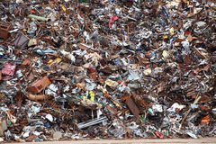 Scrap Metal ready for recycling Stock Photos