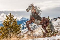 Scrap Metal Rearing Horse Stock Images