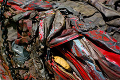 Scrap Metal Recycling. A motor car, crushed for recycling Stock Images