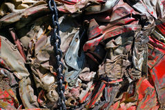Scrap Metal Recycling Royalty Free Stock Photography