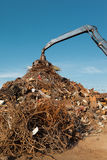 Scrap metal recycling center Royalty Free Stock Image