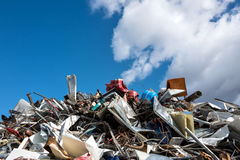 Scrap metal. At recycling yard Royalty Free Stock Photography