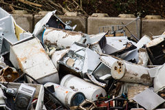 Scrap metal recycling yard. Stock Photography