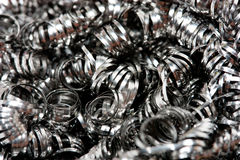 Scrap Metal Shavings stock image