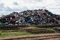Scrap metal stack Royalty Free Stock Photography
