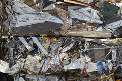 Scrap Metal Waste Compacted for Recycling Royalty Free Stock Photos