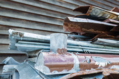 Scrap metal waste Royalty Free Stock Images