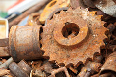 Scrap Metal weel Stock Images