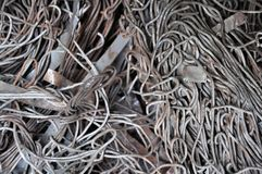 Scrap metal wire Stock Photos