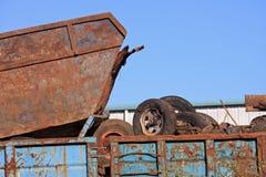Scrap metal yard Royalty Free Stock Images