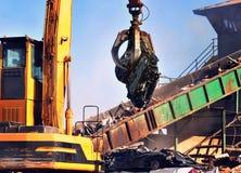 Scrap Metal Yard Stock Image
