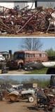 Scrap metals collage Royalty Free Stock Image