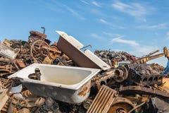 Scrap metals. Scrap metal and wonderful blue sky Stock Photo
