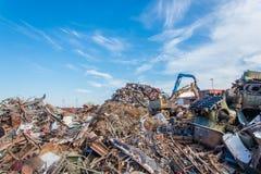 Scrap metals. Scrap metal and wonderful blue sky Royalty Free Stock Photography