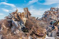 Scrap metals. Scrap metal and wonderful blue sky Royalty Free Stock Photo