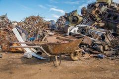 Scrap metals. Scrap metal and wonderful blue sky Royalty Free Stock Images