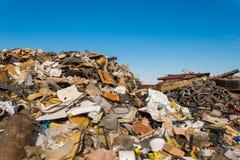Scrap metals. Scrap metal and wonderful blue sky Royalty Free Stock Photos