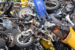 Scrap Motorcycles Stock Photos