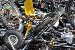 Scrap Motorcycles Royalty Free Stock Photos
