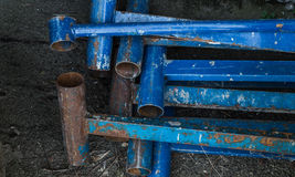 Scrap. Old construction fittings royalty free stock photo