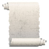 Scrap paper. Illustration of old paper roll on a white background royalty free illustration