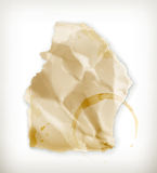Scrap of paper. Computer illustration on white background royalty free illustration