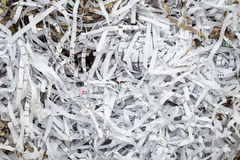 Scrap Paper from paper cutter Royalty Free Stock Images