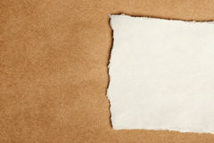Scrap paper piece as copy space Royalty Free Stock Photography