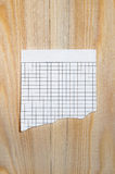 Scrap of paper sheet in a cage Royalty Free Stock Photo