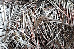 Scrap paper Waste carton garbage scrap recycle royalty free stock image