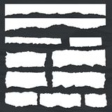 Scrap paper on wooden background. Torn pieces of white sheet. Scrap paper on a background of black chalkboard. Torn pieces of white sheet. Flat vector cartoon vector illustration