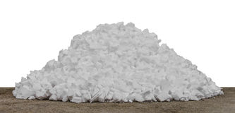 Scrap pieces foam Royalty Free Stock Photo