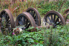 Scrap railway wheels. Royalty Free Stock Image
