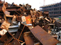 Scrap of a reassembled building. Scrap of the reassembled building in the background. The building are the Palast der Republik in Berlin royalty free stock photos