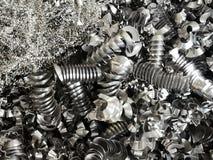 Scrap recycle metal texture for industry background. Scrap metal , Rusty scrap, Cut the background of metal scrap stock photography