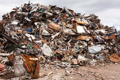 Scrap for recycling. In steel making plan Royalty Free Stock Photos