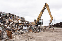 Scrap for recycling. In steel making plan Stock Images