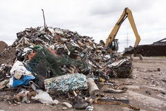 Scrap for recycling. In steel making plan Royalty Free Stock Photography