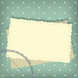 Scrap retro background with empty photo blank Stock Photo