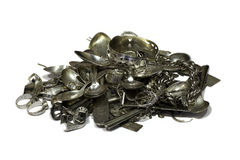 Scrap sterling silver Stock Images