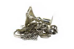 Scrap sterling silver Royalty Free Stock Image
